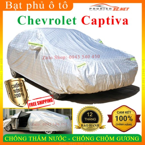 Bạt Che Phủ Xe Chevrolet Captiva CAO CẤP 3 LỚP - PHUKIENXE