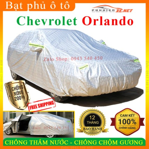 Bạt Che Phủ Xe Chevrolet Orlando CAO CẤP 3 LỚP - PHUKIENXE