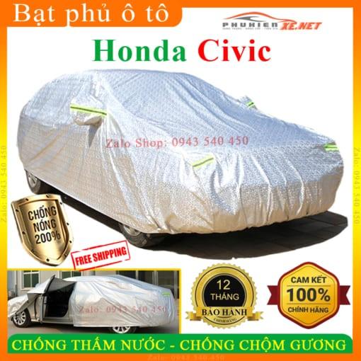 Bạt Che Phủ Xe Honda CIVIC CAO CẤP 3 LỚP - PHUKIENXE