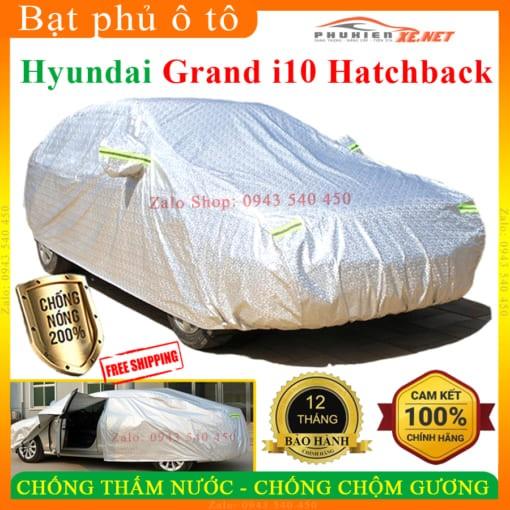 Bạt phủ ô tô Hyundai Grand i10 hatchback Cao cấp