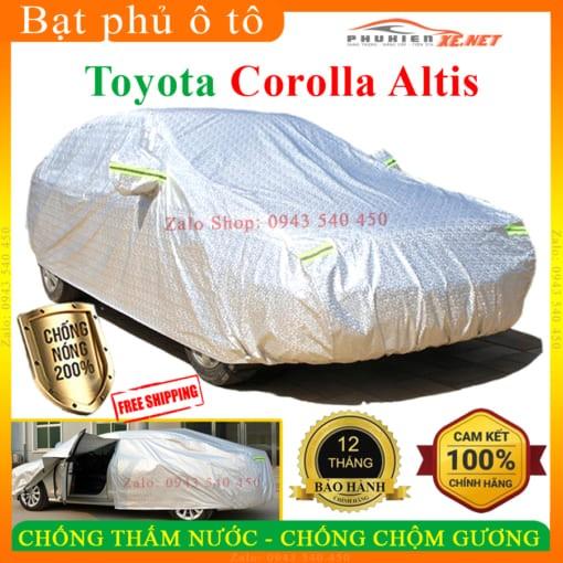 Bạt Che Phủ Xe Toyota Corolla Altis CAO CẤP 3 LỚP - PHUKIENXE